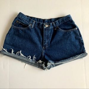 Pants - Vintage High Waisted Denim Shorts